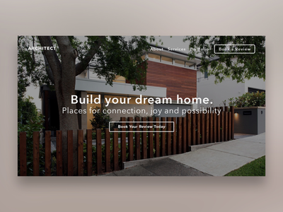 Architect Website Landing Hero