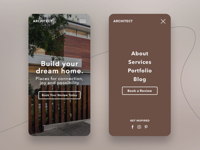 Architect Website Mobile Landing Hero