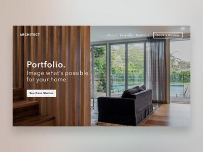 Architect Website Portfolio Hero