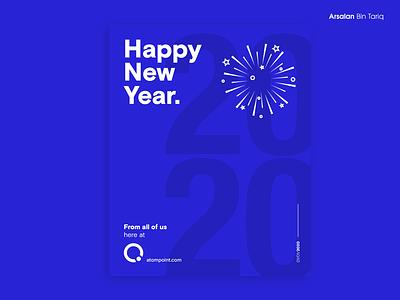 Happy New Year Poster photoshop design poster 2020 happynewyear newyear