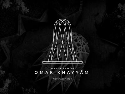 The Mausoleum of Omar Khayyam turism poet poem wine persian persia minimal tomb khayyam architecture vector illustration