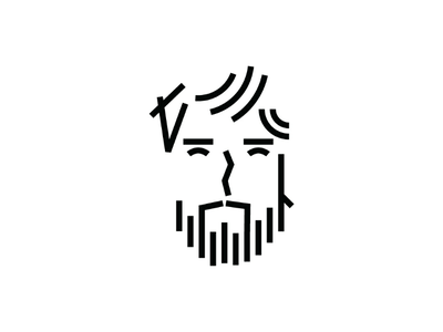 Self Portrait beard man icon me self-portraite portrait minimal line selfie
