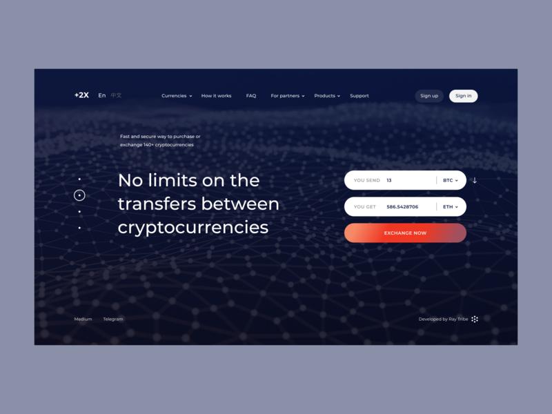 +2X website web ux ui ethereum design cryptocurrency crypto blockchain bitcoin