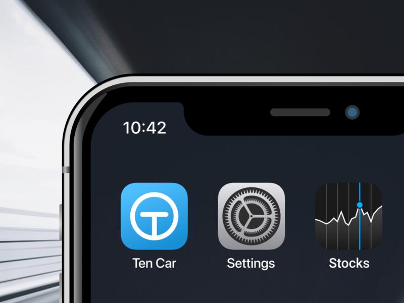 Icon app for Ten Car icons mockup mobile design branding logo ui ios app design ios apple app ui icon app car app icon