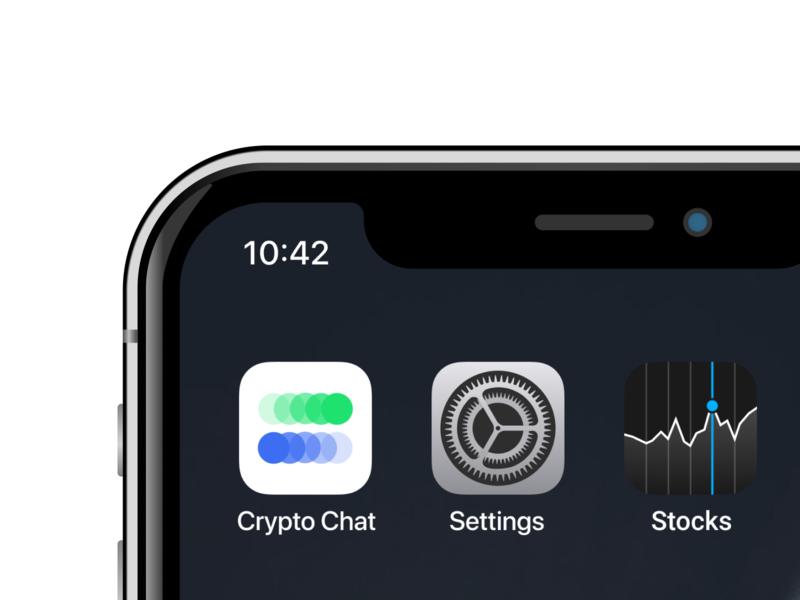 App icon for Crypto Chat apple ui branding identity design identity ios icons icon app logo design