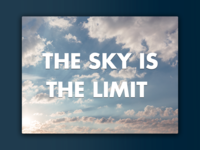 """Day 48: """"Sky"""" Landing Page"""