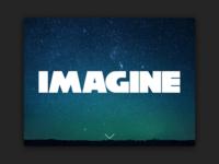 Day 53: Imagine Website Landing Page