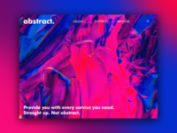 Day 58: abstract. Landing Page