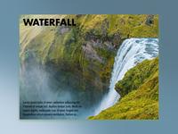 Day 63: Waterfall Website