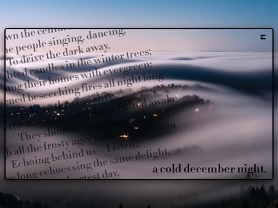 Day 153: Cold December Night