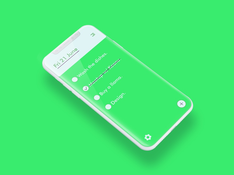 Day 156: To-Do List App mobile app mobile ui uidesign to-do list to do app ui illustration interface graphicdesign minimal clean design