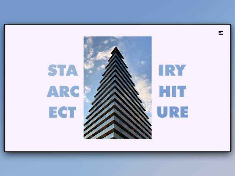 Day 159: Stairy Architecture. web design uidesign minimal interface illustration graphicdesign design clean