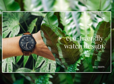 Day 241: Eco-Friendly Watches Landing Page.