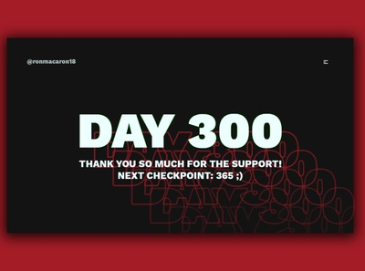 Day 300: Thank You!