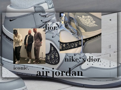 Day 322: Nike x Dior Air Jordan Collab Website.