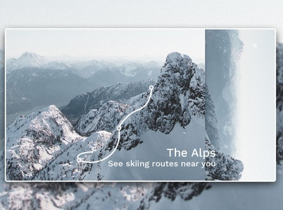 Day 344: Skiing Routes Website. landing page landingpage uidesign illustration graphicdesign graphic design interface web design clean minimal design