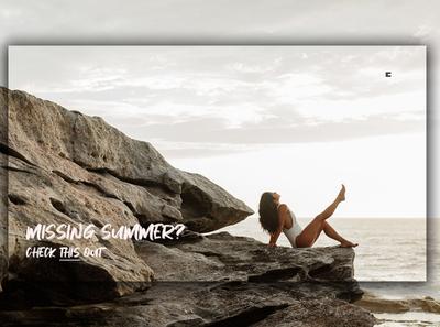 Day 345: Missing Summer? landing page landingpage uidesign illustration graphicdesign graphic design interface web design clean minimal design