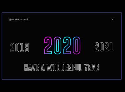 Day 349: Happy New Year! 2020 new year daily design landing page landingpage graphicdesign graphic design clean minimal design