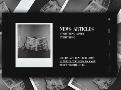 Day 350: News Articles Website. daily design branding landingpage landing page graphicdesign graphic design web design clean minimal design