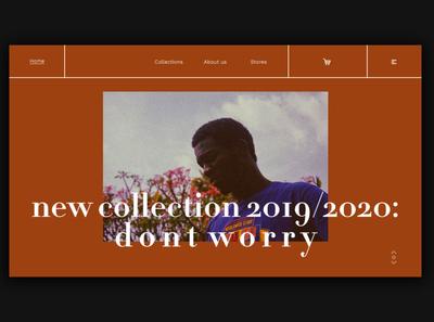 Day 351: New Clothing Collection Concept Site daily design web design landingpage landing page webdesign branding uidesign graphic design minimal design