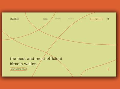 Day 352: BtWallet Concept Site Design. daily design website landing page uidesign graphic design minimal design
