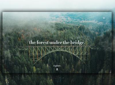 Day 360: The Forest Under The Bridge Landing Page. branding website interface landing page landingpage graphic design web design clean minimal design