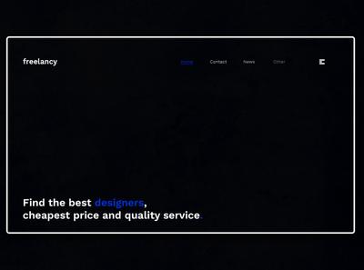 Day 361: Freelancy Website Concept. landingpage branding daily design landing page graphicdesign graphic design web design clean minimal design
