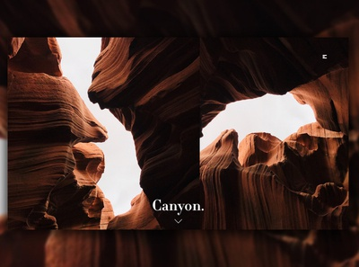 Day 362: Canyon Landing Page. website graphicdesign branding daily design landing page landingpage web design clean minimal design