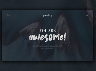 Day 364: Positivity Landing Page. daily design branding landingpage landing page interface graphic design web design clean minimal design