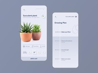 Buy and Grow Plant App bio plant flat app web type minimal product design typography clean design ux ui