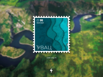 Postmark Uvac - Serbia river uvac serbia icon illustration minimal brand product design typography logo branding clean design