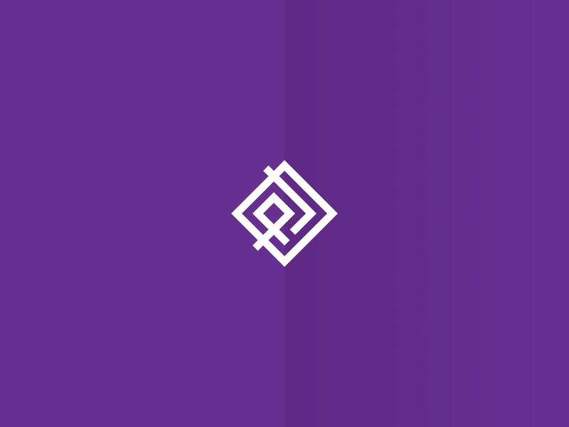 Purple Line Logo clothing label clothing brand logotype logo design icon type vector minimal brand product design logo branding design