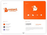 Wizard Mobile Gadgets Logo application app mobile flatdesign flat illustration flat ux ui type minimal typography product design logo clean branding design