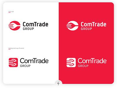 Comtrade Logo Redesign logo design logotype flat web vector type minimal brand logo clean branding design