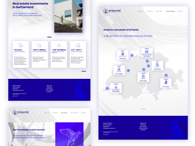 Swiss Property Invest Website switzerland swiss investment flat ux ui minimal clean design branding webdesign website web