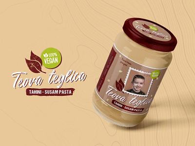 Teova Teglica - Packaging Label Design product design logo illustration brand typography branding design food illustration food sesame labeldesign label jar