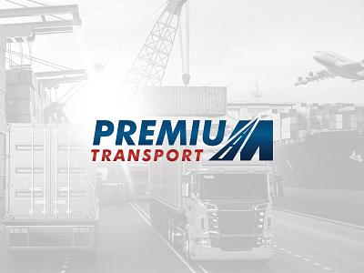 Premium M Transport type clean minimal illustration vector typography brand logo branding design
