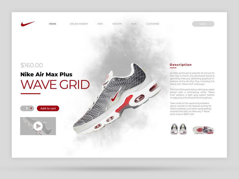 Nike Air Max Plus WAVE GRID OG nike nike air max sneakerhead sneakers art identity type web clean lettering website ux app ui product design minimal branding brand logo design