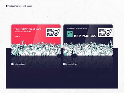 Festivaua // Payment Card Design festival logo festival app id card payment belgrade serbia music festival product design vector type minimal typography clean brand logo branding design