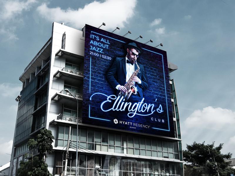 Key Visual for Ellingtons Jazz Club print clean ux jazz typography photoshop poster product design branding design