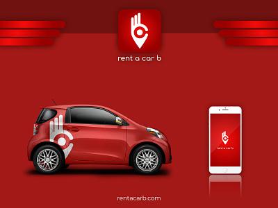 Rent a car B web ui product design minimal clean brand logo typography branding design
