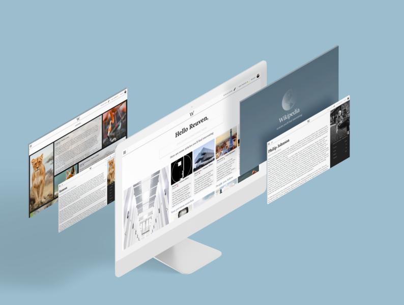 Redesign wikipedia website web webdesign redesign uxui