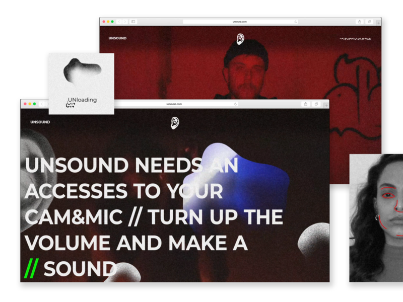 UNSOUND music typography festival collaboration branding website design logo uxui animation