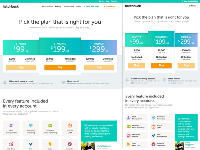 Responsive pricing page by claudiu cioba dribbble for Web page table design