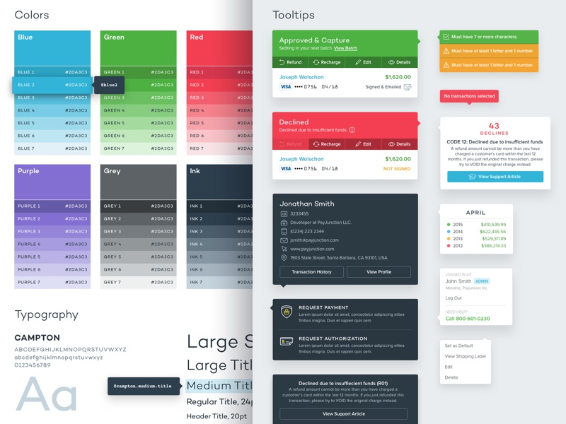 UI Style Guide user interface ux web app webdesign web design typography ui interface guidelines