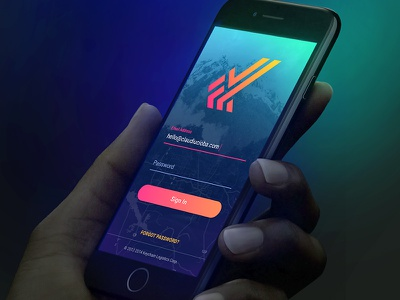 Mobile App Sign In web app webdesign web design interface user interface ux ui iphone ios mobile