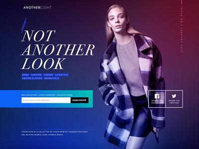 Dark Landing Page ecommerce fashion interface user interface ux ui web app landing page web design webdesign