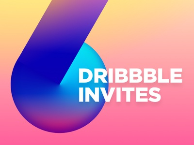 Dribbble Invites user interface ux ui web app web design webdesign gradients six 6 invites