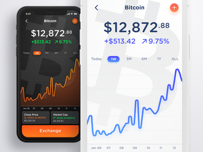 Light or Dark? crypto bitcoin analytics reports user interface dashboard web app iphone ui ux interface mobile