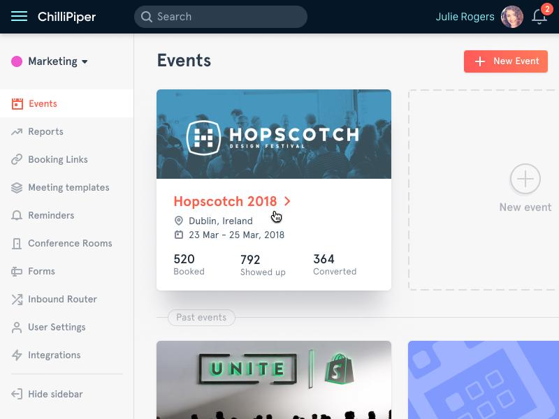 Events Web App events web design ui ux interface web application user interface web app